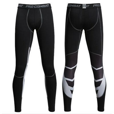 Men's Compression Base Layer Leggings Long Pants Running Gym Fitness Trousers • 6.64£