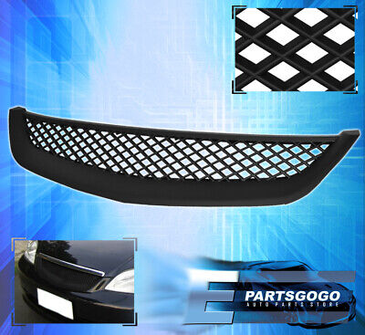 $31.99 • Buy For 01-03 Honda Civic EM2 ES1 JDM Front Bumper Hood Mesh Black Grille Grill