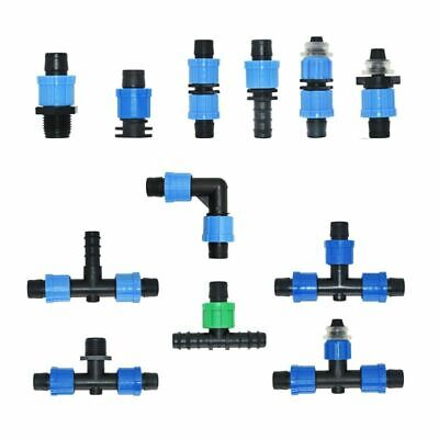 Irrigation Drip Tape Connectors Tee Elbow End Plug Repair Connector Hose Joint  • 11.34£