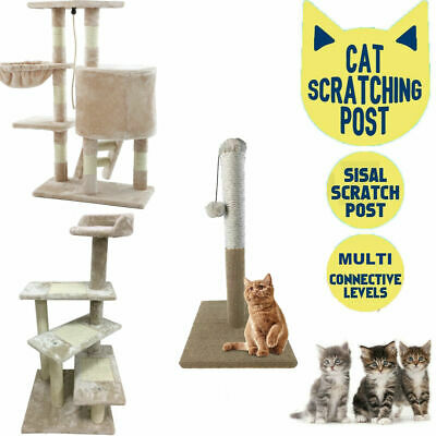 Large Cat Tree Tower Condo Furniture Scratching Kitty Kitten Play Toy House Bed • 23.89£