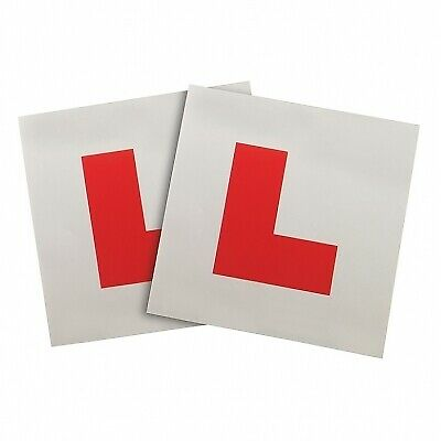 Summit Interior Car Learner Plates (L Learner Plates) - Window Cling - Pair  • 2.90£