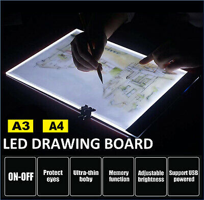 £8.89 • Buy A3 LED Tracing Light Box Drawing Tattoo Board Pad Table Stencil Artist 3Mode