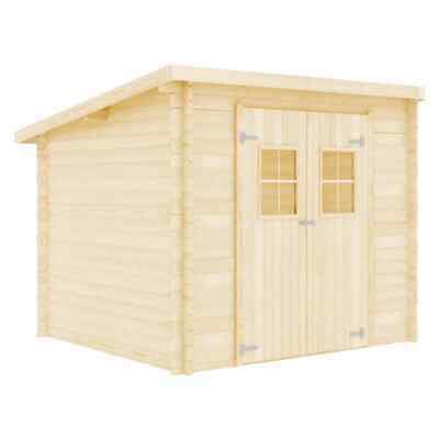 VidaXL Solid Wood Log Cabin 28mm 3.3x2.6m Outdoor Garden House Timber Shed • 1,367.99£
