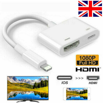 IOS To HDMI Digital TV AV 1080P Adapter Cable For IOS IPad Apple IPhone 12 11 XS • 8.28£