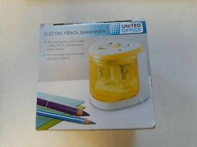 £7.97 • Buy Electric Pencil Sharpener - Yellow - United Office