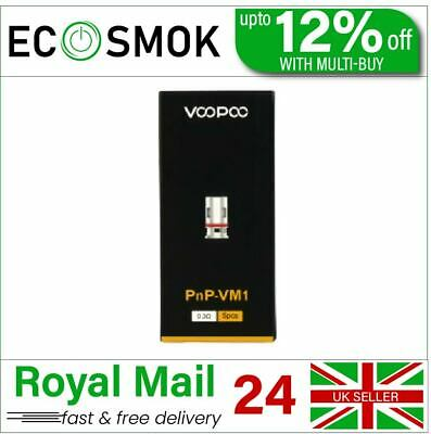 VooPoo VINCI PnP Single Mesh VM1 0.3ohm Coil Pack Of 5x Replacement Coils 32–40W • 10.40£