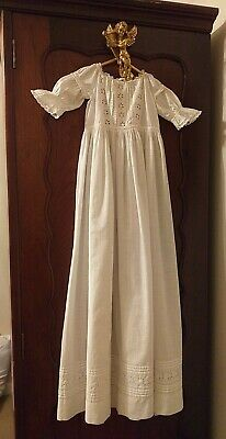 Vintage Christening Gown, White, VGC, Beautiful. • 11.60£