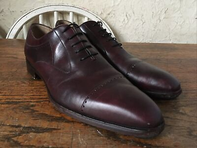 Moreschi Ox Blood Cherry Red Oxford Shoes Uk 7.5 VGC • 30£