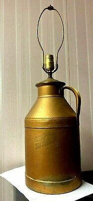 $44.50 • Buy Vintage 8 Quart Steel Milk Can  - Signed Whiting Milk - Adapted To A Lamp