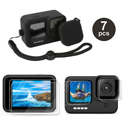 AU13.35 • Buy Accessories Kit For GoPro Hero 9 Black Silicone Protective Case+Screen Lens Film