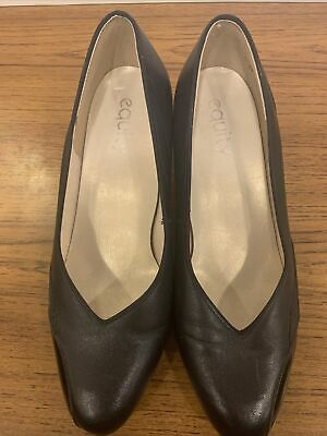 Equity Black Small Heeled Shoes - UK Ladies Size 5 • 5£