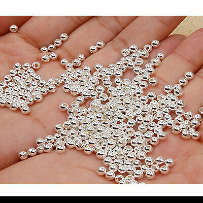 $ CDN2.91 • Buy Wholesale Silver/Gold Plated Metal Round Ball Spacer Beads 2MM-8MM For Choose