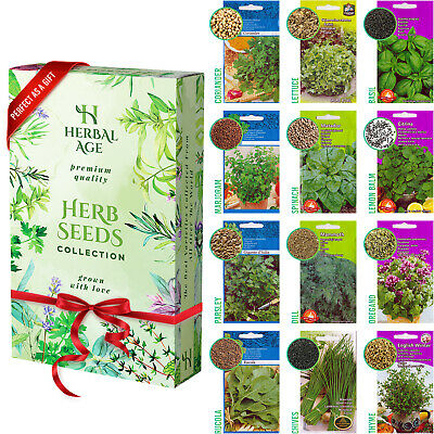 £4.95 • Buy 12 Herb Seeds Mix-8700 Plant Seed For Planting Indoor And Outdoor Grow Your Own