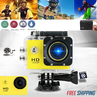 £18.19 • Buy 2inch LCD Full HD 1080P Action Camera Sports Cam Underwater 30M Camcorder DV DVR