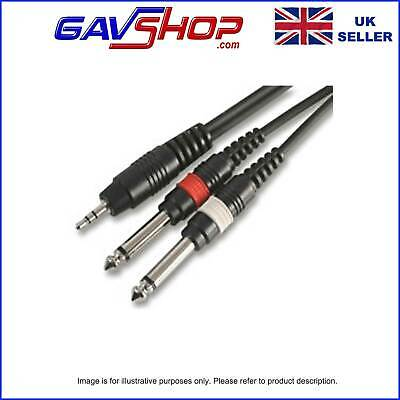 £4.15 • Buy 1.2m Pro 3.5mm Stereo Jack Lead To 2 X 6.35mm (1/4 ) Mono Jack Plugs BEST PRICE!