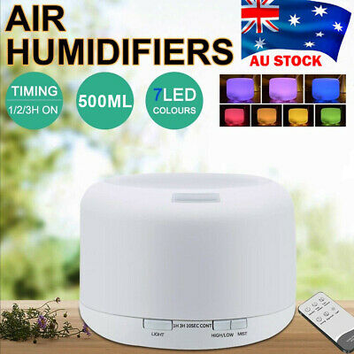 AU23.79 • Buy 500ml Essential Air Mist Oil Aroma Diffuser Ultrasonic Humidifier Aromatherapy