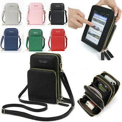 AU23.69 • Buy Mini Women Crossbody Mobile Phone Bag Case Pouch Card Wallet Purse Touch Screen
