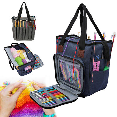 Knitting Tote Yarn Holder Storage Bag Yarn Sewing Supplies Home Organizer Large • 15.17£