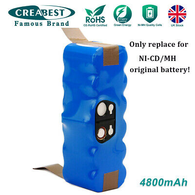 4800mAh Ni-MH 80501 Battery For IRobot Roomba 520 530 555 563 581 770 870 Series • 24.95£