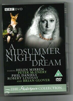 * A MIDSUMMER NIGHT'S DREAM (BBC UK DVD 2004) Helen Mirren Shakespeare • 2.99£