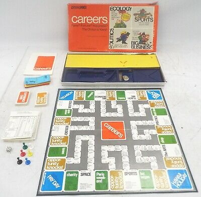 Vintage PARKER BROTHERS Careers Classic Family Board Game 1971 BOXED - N44 • 4.99£