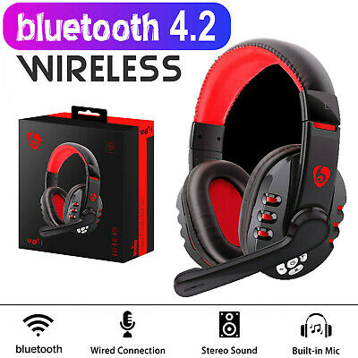 AU35.99 • Buy Bluetooth Wireless Gaming Headset Headphone With Mic For IPhone IPad Xbox PC