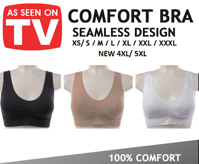 £3.99 • Buy Womens Seamless Sports Bra Wire Free Comfort Support Yoga Top Active Bra Home
