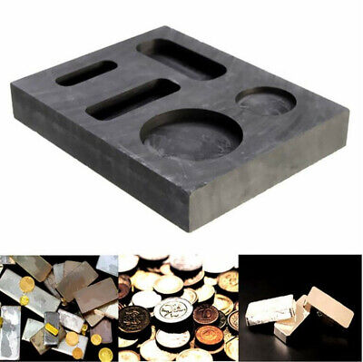 Square Graphite Crucible Gold Silver Melting Ingot Mould Bar Round Coin Mold • 14.44£