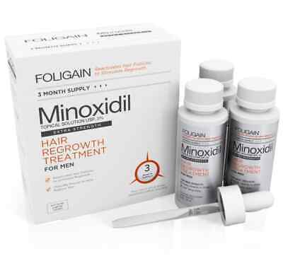 FOLIGAIN  5% HAIR REGROWTH TREATMENT For Men - 3 Month Supply New UK • 31£