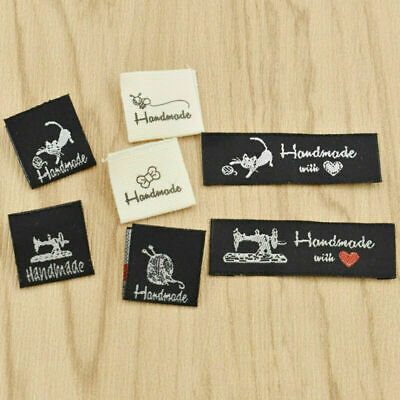 50 Pcs Handmade With Love Washable Woven Labels For Garment Sewing Accessories • 1.99£