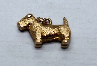 £99 • Buy Vintage 9ct Yellow Gold Charm Of A Dog