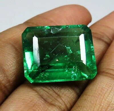 Natural 15.10 Ct Beautiful Emerald Shape Colombian Emerald Loose Gemstone • 18.99£