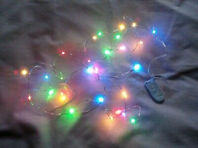 £3.49 • Buy DOLLS HOUSE 20 MUTI COLOURED CHRISTMAS TREE  FAIRY LIGHTS *batteries Included*