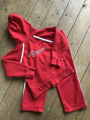 Rainbows Uniform Girls Small Hoodie / Trousers XS Jogging Bottoms • 10£