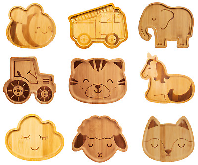 £6.95 • Buy Sass & Belle Kids Childrens Bamboo Plates Tractor Tiger Lamb Fox Plate