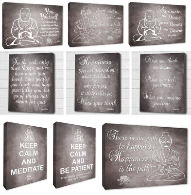 Inspirational Buddha Wall Art Quotes Picture Buddha Wall Canvas Prints 4 Sizes • 19.99£