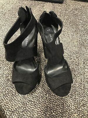 New Look Black Platform Shoes Size 4/37  • 3£