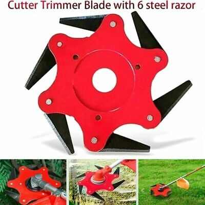 AU19.99 • Buy 6 Steel Trimmer Head Blades Razors 65Mn Brush Cutter Lawn Mower Grass Weed Acces