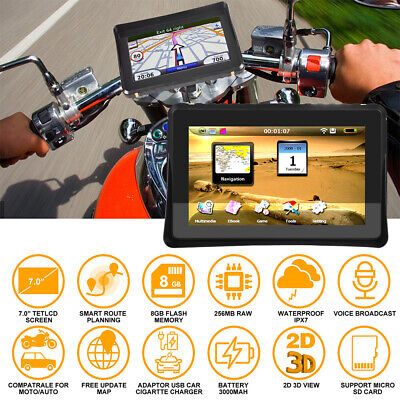 AU145.53 • Buy 💖7  Car Motorcycle Motorbike GPS SAT NAV Android Navigation + Maps