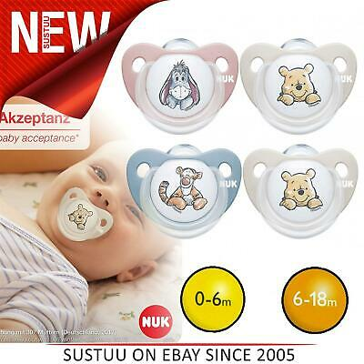 £7.66 • Buy NUK Trendline Baby Dummy│BPA-Free Silicone Soother Pacifier│For 0-6m & 6-18m