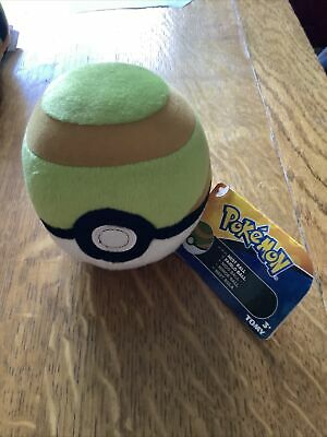 Official Pokemon Nest Ball TOMY Soft Plush Toy • 6£