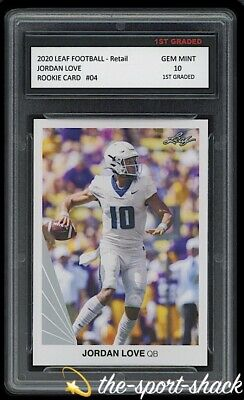 $17.79 • Buy 🌟2020/20 Jordan Love Leaf Retail Rookie 1st Graded 10 Green Bay Packers RC Card