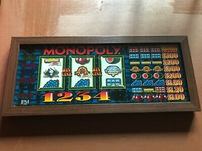 JPM Monopoly 60 Fruit Machine Professionally Framed Original Reel Window Showing • 525£