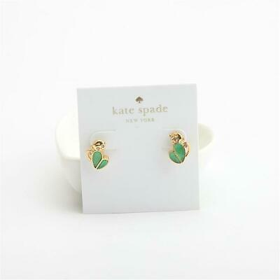 $ CDN37 • Buy Kate Spade New York Mom Knows Best Pave Monkey Stud Earrings Green