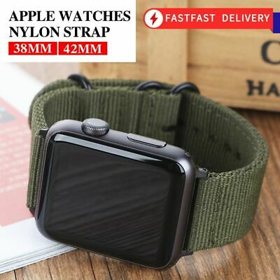 AU7.92 • Buy For Apple Watch Band 5 4 3 2 1 42mm 38mm 40MM 44MM Sport Leather Loop Strap