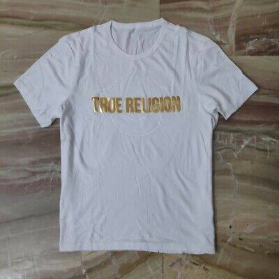 New True Religion White Short Sleeve Tshirt, Size XXL • 8.99£