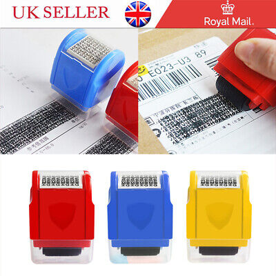 New Roller Stamp Identity Privacy ID Confidential Guard Data Theft Protection UK • 7.05£