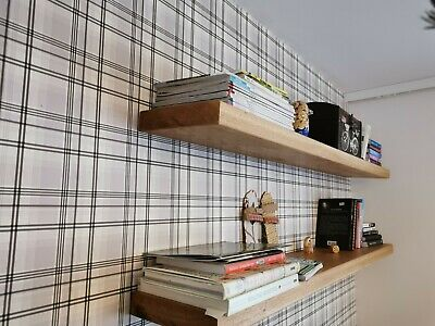 £35 • Buy Rustic Chunky Solid Wood Wall Floating Shelves  Any Colour From Description