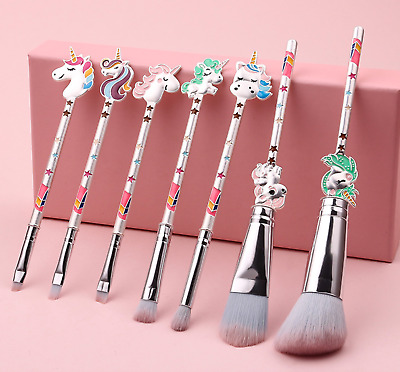 AU29.99 • Buy 7pcs Unicorn Professional Makeup Brush Set Foundation Blusher Cosmetic Make Up