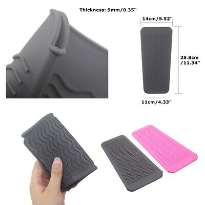 £6.49 • Buy 1X Silicone Safety Heat Proof Pads Mat Pouch Protection For Hair Straighteners